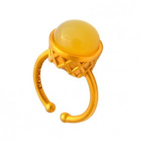 Large Gold Plated Ring - Lemon Pie Ice Cream