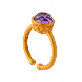 Small Gold Plated Ring - Grape Ice Cream