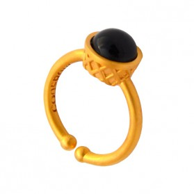 Small Gold Plated Ring - Squid Ink Ice Cream