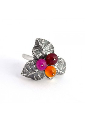 Malibu Silver Ring Tri-color