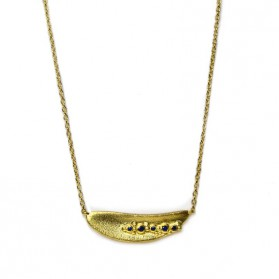 BANAU sapphire gold plated silver necklace