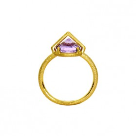 UPPSSS Gold plated silver & amethyst ring