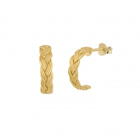 INNOCENT BRAID Pendientes plata B.Oro 18k