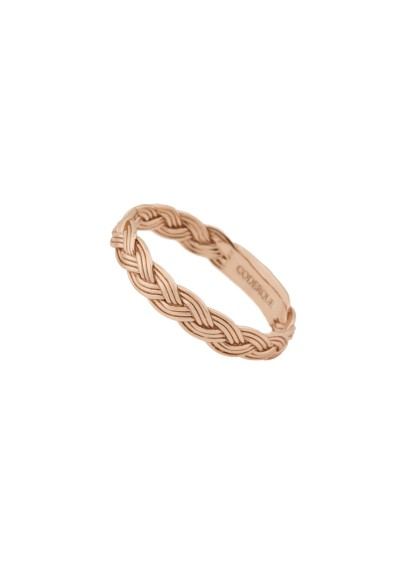 INNOCENT BRAID ring. Rosé gold plated silver