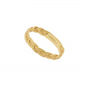 INNOCENT BRAID ring. 18kt Gold plated silver