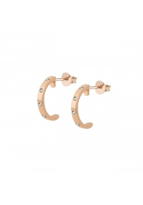 INNOCENT BRAID Pendientes plata B.Oro Rosa 18k