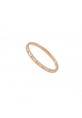 INNOCENT STONES ring. Rosé gold plated & topaz