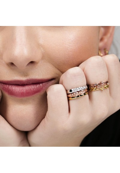 INNOCENT STONES ring 18kt gold plated & topaz