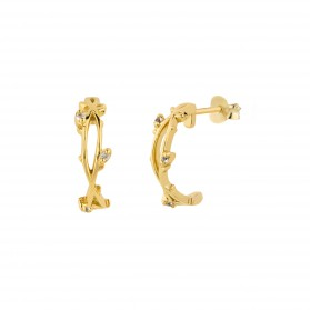 INNOCENT BLOOM Pendientes plata B.Oro 18k