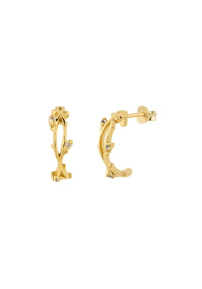 INNOCENT BRAID Pendientes plata B.Oro amarillo