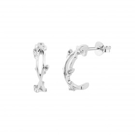 INNOCENT BLOOM silver hoops