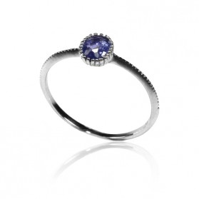 Blue Sapphire Ring in Silver