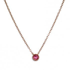 Pink Sapphire Pendant in Silver / 18kt Rose Gold Plated