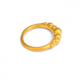BANAU Gold plated atoms ring