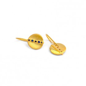 BANAU Round gold plated silver earrings