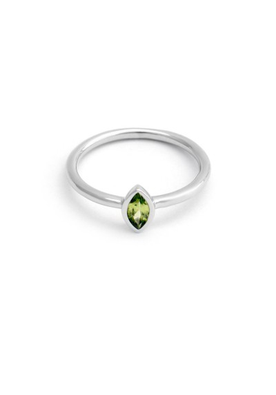 PALM & SEA silver ring and peridot