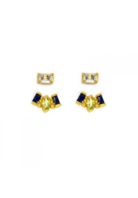 PALM & SEA Ear jackets en plata con baño de oro 18kt