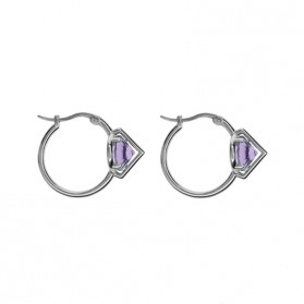 UPPSSS Silver & amethyst earrings