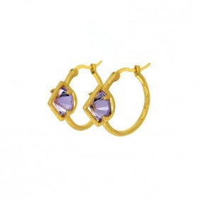 UPPSSS Gold plated silver & amethyst earrings