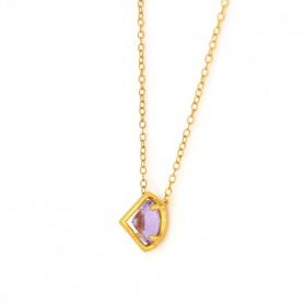 UPPSSS Silver & amethyst gold plated necklace