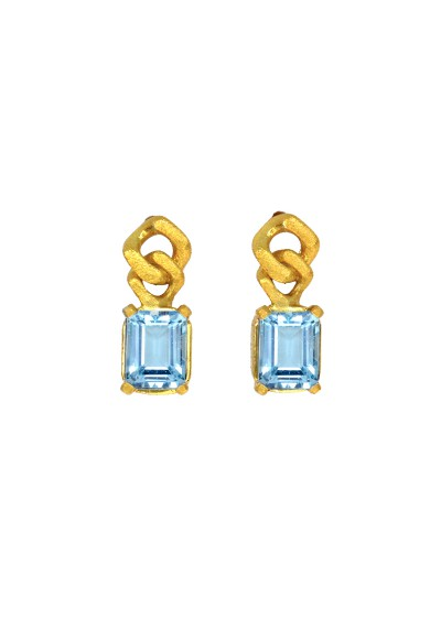 BARBADOS blue topaz and silver earrings