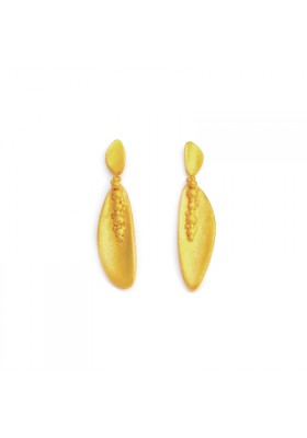 BANAU long gold plated silver earrings