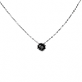 AYALA necklace. Silver and natural onyx.