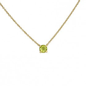 MARTINIQUE necklace 18kt gold plated Silver and natural peridot