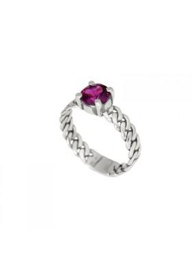 MARTINICA anillo plata y granate rodolita