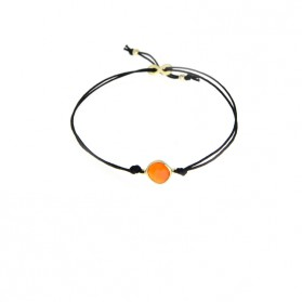 AYALA 18kt gold plated silver & orange agate