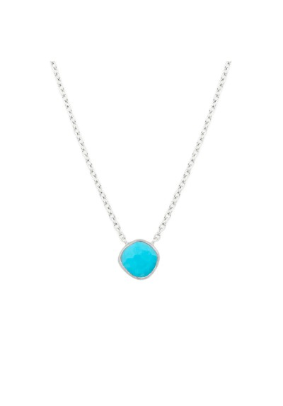 AYALA necklace. Silver & blue howlite