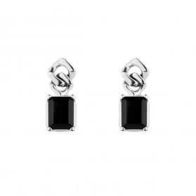 BARBADOS onyx silver earrings