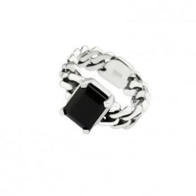 BARBADOS anillo plata ónix